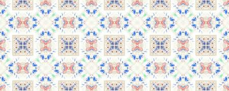 Portuguese Decorative Tiles. Vintage Moroccan Style. Hawaii Boho Surface. Portuguese Decorative Tiles Background. Square Pakistan Surface. Daisy Cute Stock Photo