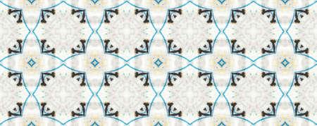 Portuguese Decorative Tiles. Moroccan Ornament. Portuguese Decorative Tiles Background. Kilim Bohemian Backdrop. Graphic Banner. Batik Striped Modern Stockfoto