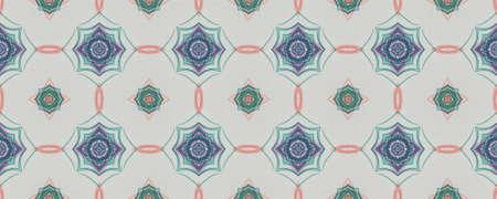 Background Hand Drawn Geometrical Pattern. Sketch Autumn Bohemian Illustration. Hand Drawn Geometrical Pattern. Rhombus Aztec Moroccan Ornate. Modern Leaves Vintage
