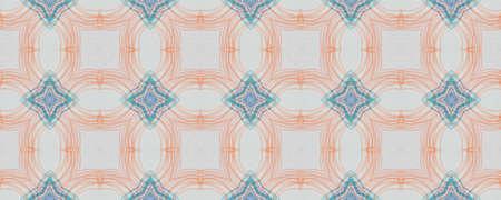 Portuguese Decorative Tiles. Ethnic Graphic Illustration. Portuguese Decorative Tiles Background. Latino Line Ornament. Watercolour Grunge Ethnic Decor. Simple