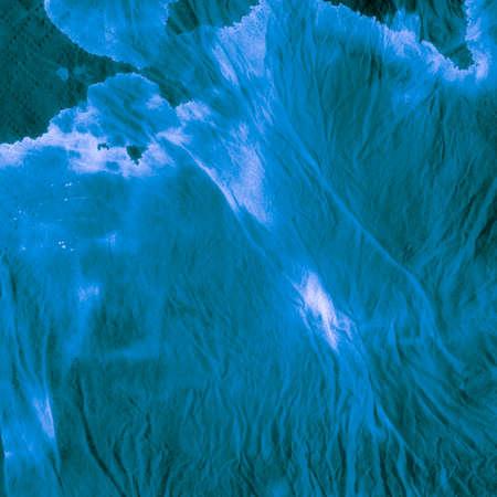 Seamless Water Color Pattern. Sea Splash Dyed Textile. Background Seamless Water Color Pattern. Rainbow Ocean Paintbrush Illustration. Aquarelle Cold