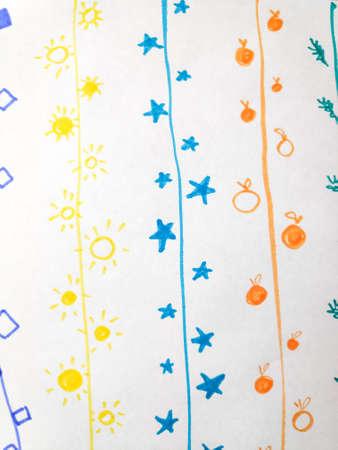 Distress Line Pattern. Stripe Scribble Minimal Ornament. Background Distress Line Pattern. Ripple Childish Ink Wallpaper. Wave Children Modern Illustration. Pencil.