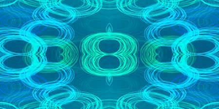 Highlighter Chemistry Paint. Signalling Molecule. Blurry Round Neon Painting. Signalling Molecule Background. Energy Blue Round Poster. Bluestone