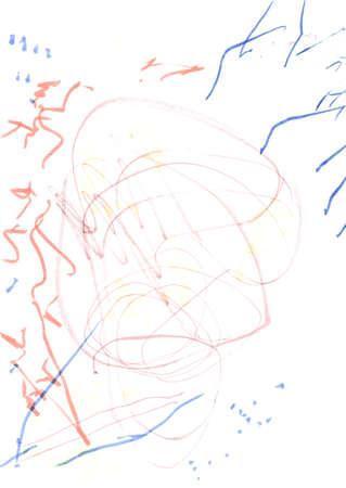 Wall Art Canvas. Summer Children Paint.  Acrylic Futuristic Poster. Triangular Design Elements Background. Energy Childlike Print. Spring Painting. 版權商用圖片