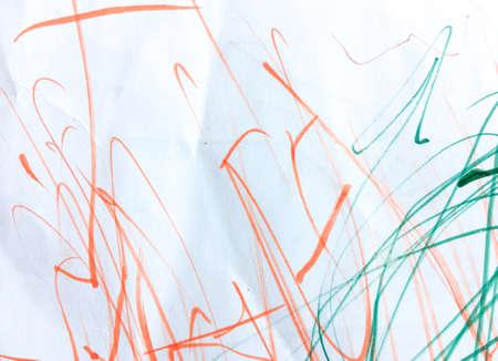 Crayon Scratch Wall. Wall Art Canvas. Funny Preschool Art.  Triangular Design Elements Background. Element Babyish Paint. Cartoon Postcard.