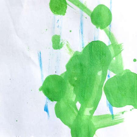 Triangular Design Elements Background. Crayon Scandinavian Artwork. Wall Art Canvas. Summer Childlike Card.  Cute Preschool Card. Spring Picture. Banco de Imagens