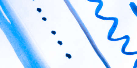 Distress Line Pattern. Line Indigo Dirty Pattern. Background Distress Line Pattern. Repeat Funny Elegant Decoration. Indigo Organic Geometric Decoration. Indigo Handwritten. 版權商用圖片