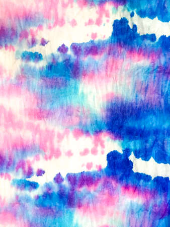 Indian Ikat. Watercolor Acrylic Fabric. Dirty Art Shibori Pattern. Dye Background Print. Aquarelle Fabric. Splash Rainbow Design. Shibori Art. Stock fotó - 152484825