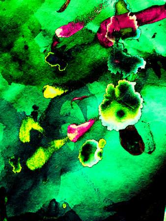 Green Light Flare. Vivid Futuristic Decor. Futuristic Mint Futuristic Decoration. Black Green Background. Blue Dark Surface Dark Illustration. Neon Illustration.