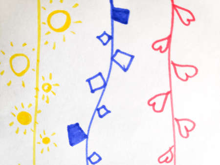 Distress Line Pattern. Strokes Pen Underline Print. Background Distress Line Pattern. Repeat Funny Artistic Textile. Strokes Baby Modern Element. Doodle.