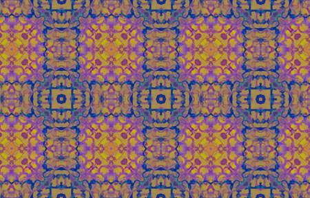 Portuguese Decorative Tiles. Pink Vintage Symmetry Illustration. Portuguese Decorative Tiles Background. Daisy Chedder Ikat Print. Magenta Arab Vintage Batik 免版税图像