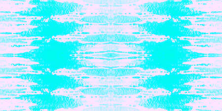 Seamless Pattern Textile Kaleidoscope. Tie-dye Sea Vivid Ornament. Seamless Textile Kaleidoscope Pattern. Neo Cute Ethnic Fabric. Cyan Cloud Bohemian Textile.