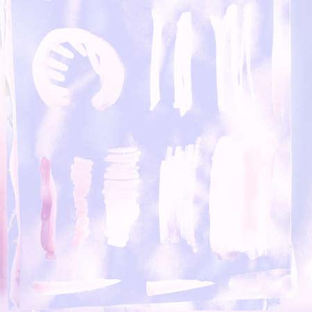 Paint Stroke Set. Hand Violet Pattern. Background Paint Stroke Set. Line Pink Ink Sketch. Acrylic Splash Pink. Simple Pink Ink