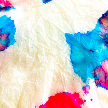Indian Ikat. Shibori Modern Design. Splash Watercolor Design. Dye Background Print. Aquarelle Fabric. Vivid Multicolor Artwork. Dyed Artwork.