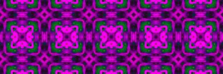 Neon Floral Watercolor. Chevron Graphic Forest Cyberpunk Banner. Neon Floral Watercolor Background. Golden Islam Ethnic Pattern. Cyberpunk Turkish Stock fotó