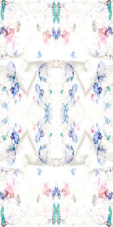 Shibori Flowers. Watercolor Ornament. Kaleidoscope Alcohol Ink Ink Illustration. Repeat Illustration. Seamless Design. Tie-dye Pattern. Artistic Kilim Ornament.