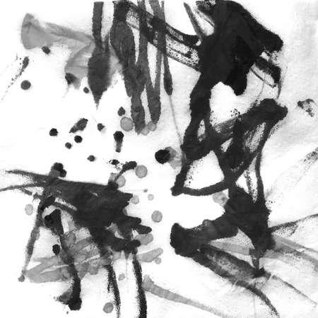 Tye Dye Monochrome Paint. Vintage Dyed Background. Hand Drawn Monochrome Textile. Halftone Dirty Art Pattern. Dyed Black And White Texture. Stock fotó