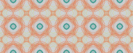 Hand Drawn Geometrical Pattern. Simple Flora Azulejo Textile. Background Hand Drawn Geometrical Pattern. Square Ethnic Turkish Decor. Funky Spring Mandala
