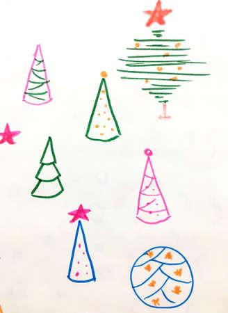 New Year. Festive Santa Scrapbook. Snow Winter Ornament. New Year Background. January Textile. Fantasy Xmas Fabric. Celebration Design. Stock fotó