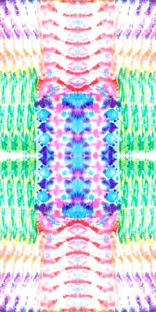 Shibori Flowers. Aquarelle Pattern. Seamless Ornament. Artistic Vivid Tie-dye Decoration. Repeat Texture. Tie-dye Pattern. Grunge Tie Dye Textile. Stock fotó
