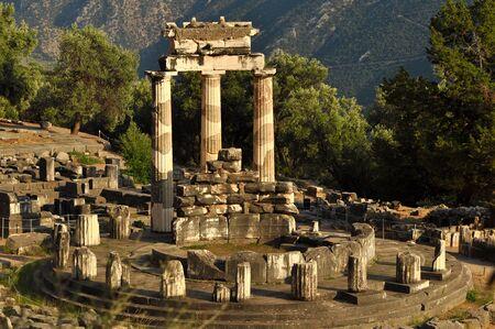 The Tholos at the sanctuary of Athena Pronaia photo