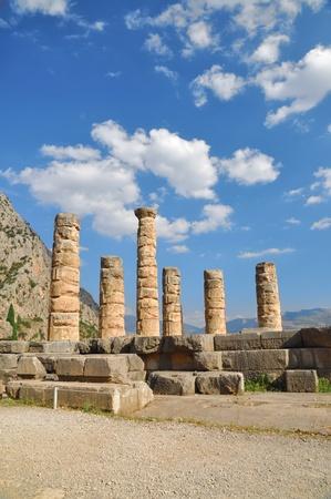 The temple of Apollo at Delphi, Greece photo