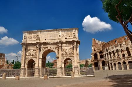 constantine: Arch of Constantine near the Colosseum (Arco di Costantino)