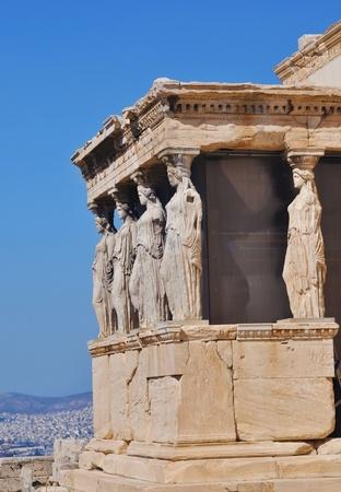 parthenon: The Erechtheum, Athena, Greece Stock Photo