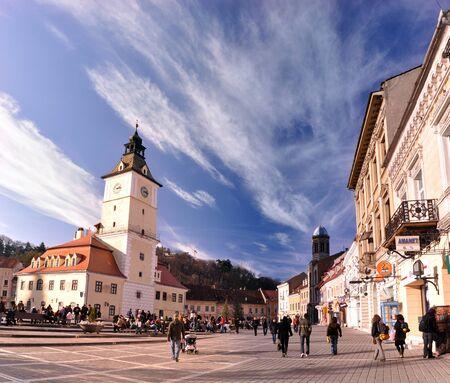 the council: The Council square, in Brasov, Romania