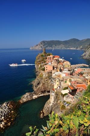 vernazza: Village of Vernazza, in Cinque Terre, Italy Stock Photo