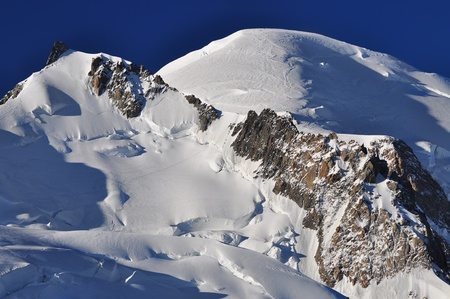 Top of the Alps Mountains, Mont Blanc - France photo