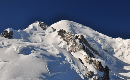 Mont Blanc (French) or Monte Bianco (Italian), meaning White Mountain, is the highest mountain in the Alps, Western Europe and the European Union. photo
