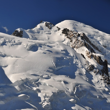 Mont Blanc (French) or Monte Bianco (Italian), meaning 'White Mountain', is the highest mountain in the Alps, Western Europe and the European Union. photo