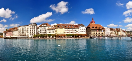 View of Lucerne town in Switzerland photo