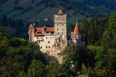 castle rock: Bran Castle, Transylvania, Romania Editorial