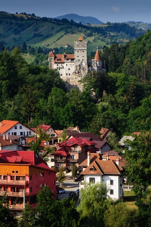 The Bran Castle and Bran city, Transylvania, Romnania