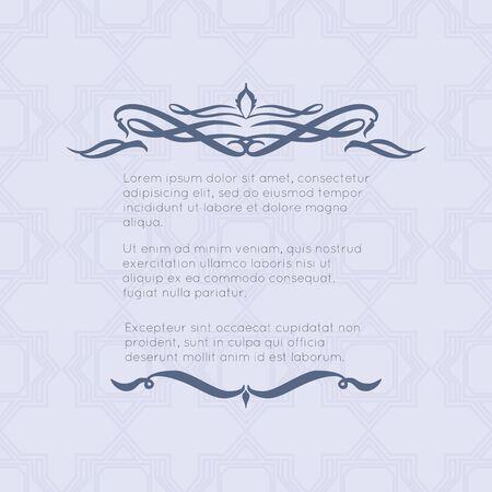 Border-Designs für Grußkarten. Template-Design für die Einladung, Etiketten, Gedicht schreiben. Vintage-Konzept.