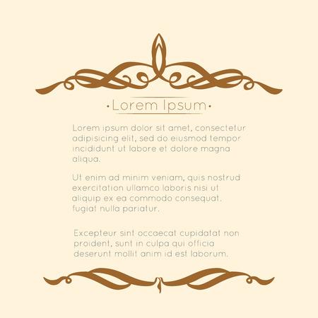 Frontera diseños para tarjetas de felicitación. Diseño de la plantilla para la invitación, etiquetas, la escritura poema. Concepto de la vendimia.
