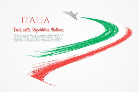 Italian National Day Flyer design vector