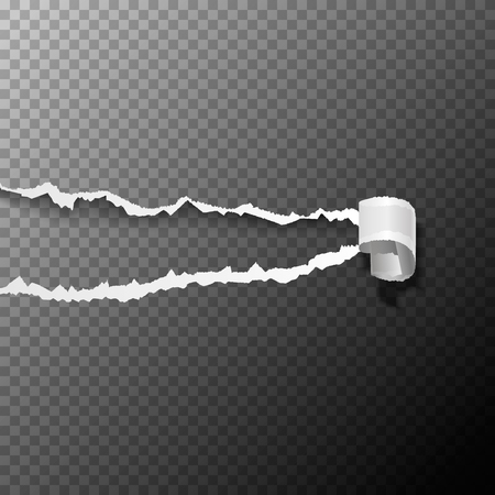 teared: Ripped white paper background. Torn paper. Vector illustration.