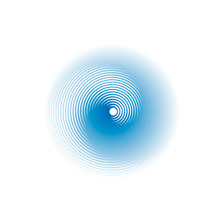 Spirally circular shape. Blurred effect. Vector illustration.