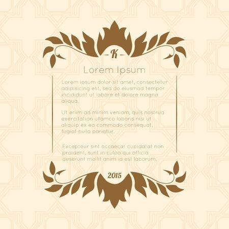 Border designs for greeting cards. Template design for invitation, labels, poem writing. Vintage concept. Illustration