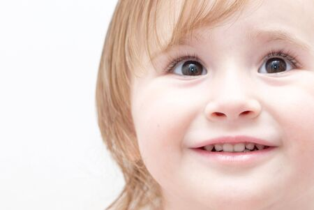 Bright closeup portrait of adorable little girl. Stock Photo - 6284502