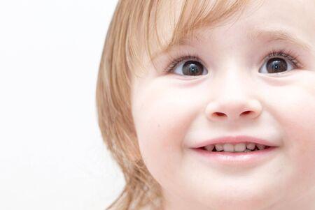 Bright closeup portrait of adorable little girl. Stock Photo - 6284502