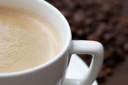 A cup of hot espresso Stock Photo - 6597300