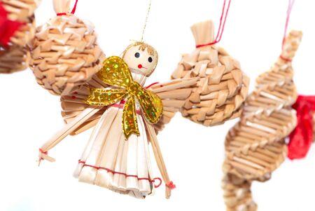 Christmas decorations - straw angel photo