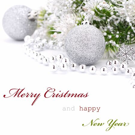 Christmas greeting card with text Stock Photo