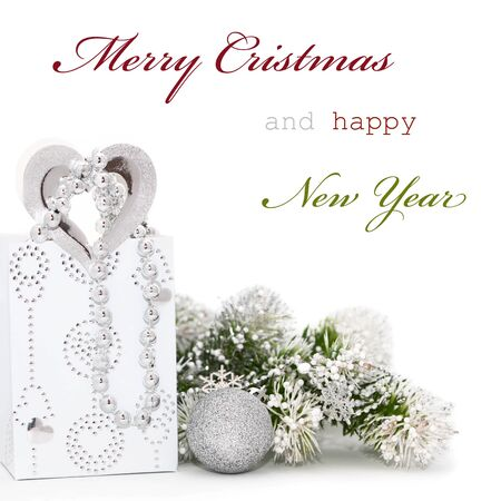 Christmas greeting card with sample text