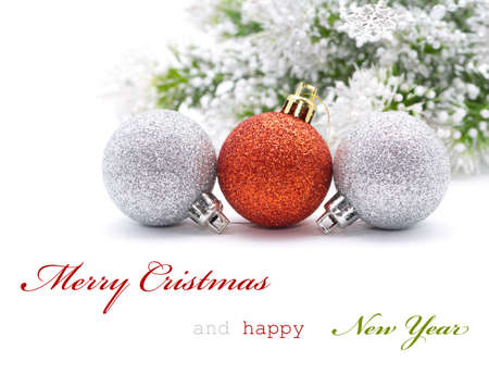 Christmas greeting card with sapmle text Stock Photo
