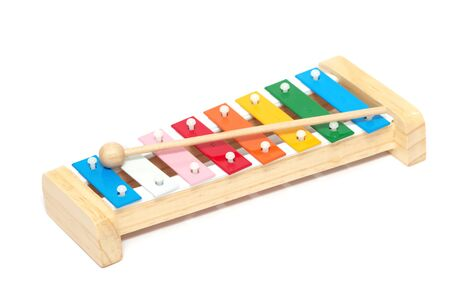 Colorful xylophone isolated on white background